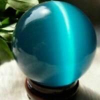 20mm Blue Cat's-eye Opal Natural Quartz Crystal Healing Stone Ball Sphere Gift.