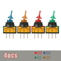 4x ROCKER SWITCH Toggle 20 AMP 12V Led Light Car Round ON/OFF SPST Accessories