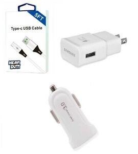 Samsung S9 S9+,Note 9,S10,S10+ Samsung OEM Fast Wall,(Non OEM 5 Feet USB-C, Car)