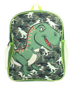 Glow in the Dark Dinosaur Basic Backpack Green Boys Pre School Nursery Rucksack