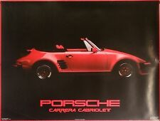 Porsche Carrera Cabriolet 23x31 Automotive Poster 1985 Red Convertible