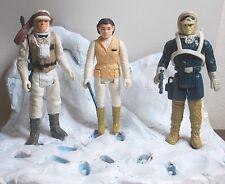 Vintage Star Wars Rebel Hoth Figures x3 , luke , leia & solo (IRH3)