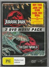 Jurassic Park & The Lost World 2 DVD Movie Pack