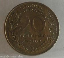 20 centimes marianne 1970 : SUP : pièce de monnaie française