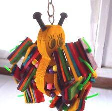 New Super Bird Creations Buzbee Bee Bird Toy Wood Medium 10 x 4 1/2