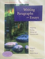Writing Paragraphs and Essays by Joy Wingersky  VG++ Instructor's Edition