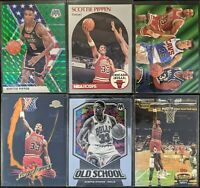 Lot of (6) Scottie Pippen, Including Mosaic Green, Skybox Premium, Stadium Club