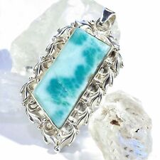Larimar atlantis remolque 2 real 925 plata pendant Blue genuine unique única