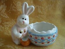 Adorable Bunny Rabbit Pot Planter Or Jewelry Coin Holder