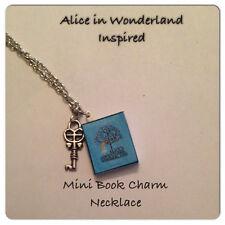 Handmade Alice In Wonderland Inspired Mini Book Charm Necklace Geek Fandom