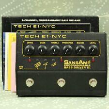 TECH21 SansAmp Programmable Bass Driver DI With original box effect pedal 977214