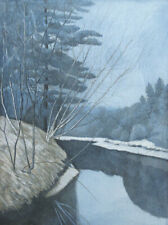 """Oliviero Masi """"White River"""" Signed Numbered Vernice Molle Etching MAKE AN OFFER!"""