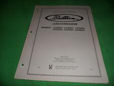 Drawer 16 Brillion Landcommander Lcs 3301 5241 5301 7241 Repair Parts Catalog