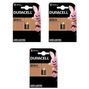 3 x Batterien Duracell 015142, Alkaline, Security, MN11, A11, L1016 6V, Blister