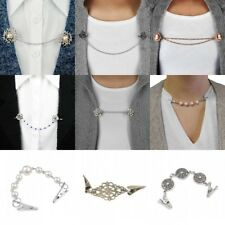 Women Cardigan Sweater Blouse Shawl Clips Shirt Collar Retro Clasps Clothing-Pin