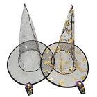 infantil ORO PLATA MALLA Bruja wilches Sombrero - Disfraz de Halloween 973000