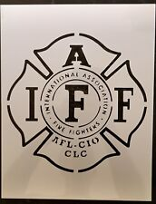 International Association Firefighters IAFF Fire Fighter Stencil FREE SHIPPING