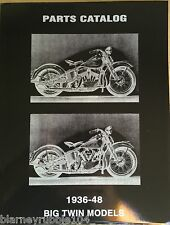 Harley Parts Manual Catalog Book 1936 to 1948 Knucklehead UL Flathead 48 Panhead