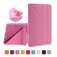 Slim Leather Smart Case Cover Folding Folio Case Protector for iPad 3 4 Mini