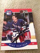Mike Gartner HOF VINTAGE HAND SIGNED 1990 ProSet Card With COA