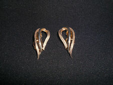 Sarah Coventry Earrings Gold Vintage Costume Jewellery