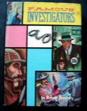 Famous Investigators Book Real Life Stories Series Whitman 1963 HC # 1564