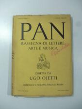Pan. Rassegna di lettere arte, Ojetti, numero 7, luglio 1935
