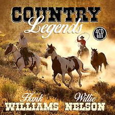 CD Country Legends D'Artistes Divers 4CDs avec Hank Williams et Willie Nelson