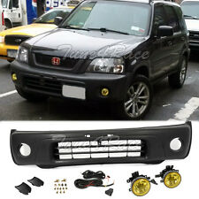 For 97-01 Honda CRV Front Bumper Cover w/ Yellow Fog Light Conversion RD1 JDM