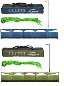 Wind screen windbreaker Blocker 5 PANEL Camping Garden Beach Wind Break