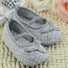 Cute Newborn Baby Infant Girls Bowknot Soft Sole Crib Shoes Princess 0-18 Months