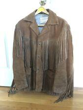 Vintage Schott Lether Jacket Fringe Rancher Western Mens Size 42