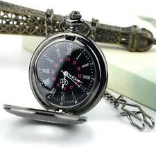 Steampunk Retro Vintage Chain Quartz Pocket Watch Roman Pattern FK