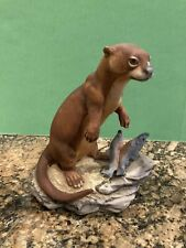 Lefton China Otter Figurine Hand Painted. See Description.