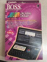 NOS Casio COLOR LCD Digital Diary CSF-4650-w B.O.S.S. 64kb Organizer VINTAGE NEW