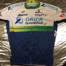 3XL Men's Full Zip Cycling Jersey 'Orica GreenEDGE' UCI World Tour