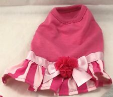 Top Paw Stripe Skirt Pink Dog Dress X-SMALL SKU 5260637 UPC 73725771687
