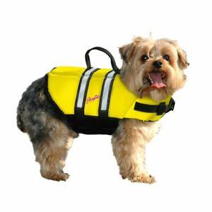 PAWZ PET PRODUCTS ZY1600 Yellow NYLON DOG LIFE JACKET EXTRA LARGE YELLOW