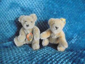 2 Miniature Steiff Mohair Bendy bears