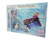 Frozen Glitter Jigsaw Puzzle 104 Pieces Disney Puzzle Clementoni Toy NEW BOXED