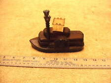 Vintage Avon Brown Glass Natches Steamboat Aftershave bottle, Empty, No Box
