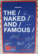 THE NAKED & FAMOUS 2016 FULLY AUTOGRAPHED SIMPLE FORMS TOUR POSTER NM