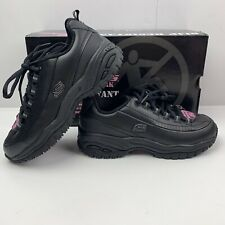 SKECHERS Work Soft Stride Softie Sneaker Women's Sz 5.5 Black Slip Resistant NEW