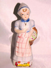 MIOJ Occupied Japan GIRL in Apron with Basket Souvenir TALL PINES Suamico WI