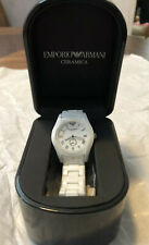 NIB Armani White Ceramic Women's Watch AR1405 $445
