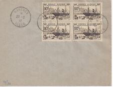 ALGERIE - EXPO NEW YORK N°155 - Bloc de 4 sur lettre