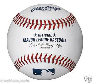 1/2 DOZEN RAWLINGS OFFICIAL LEATHER MAJOR LEAGUE BASEBALLS MLB - QTY 6 - MANFRED