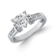 Diamond Engagement Ring Trillion Cut GIA Certified 2.00 Carat 18k White Gold
