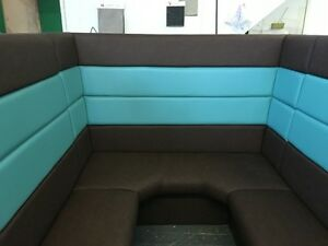 Fixed Restaurant Seating, Benches, Booths, Commercial Custom made, Cafe