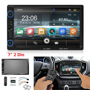 "2DIN Car Stereo Radio Bluetooth 7"" HD Touch Screen Multimedia MP5 Player FM/USB"